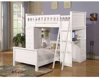 ACME Furniture ACME Willoughby Twin Panel Bed in White Pine Solid Wood