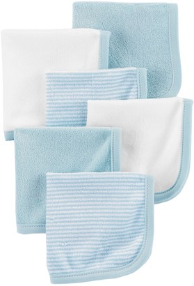 Carter's Baby Boy 6-Pack Striped & Solid Wash Cloths