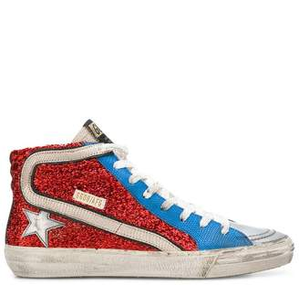 Golden Goose metallic hi-top trainers