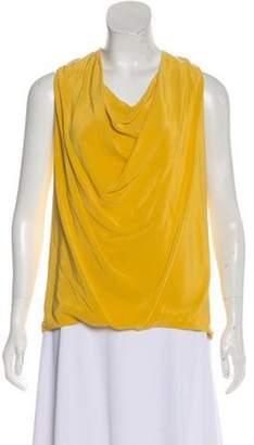 Gucci Draped Silk Top Yellow Draped Silk Top