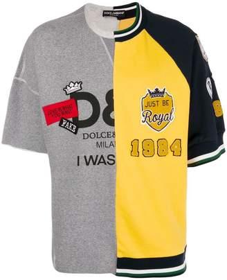 Dolce & Gabbana patch jersey sweater