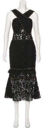 Nicole Miller Lace Sleeveless Midi Dress w/ Tags
