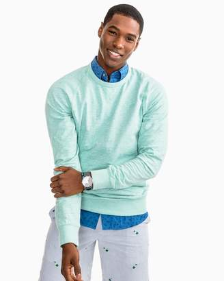 DAY Birger et Mikkelsen Southern Tide Heathered Ocean Course Crew Pullover