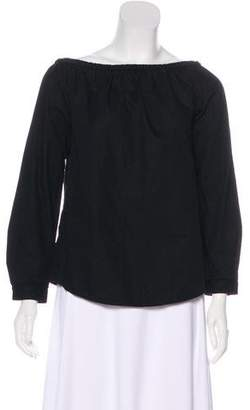 Rag & Bone Off-The-Shoulder Long Sleeve Top