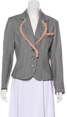 John Galliano Wool Houndstooth Blazer