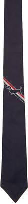 Thom Browne Navy Hector Stripe Classic Tie $195 thestylecure.com