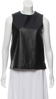 The Row Sleeveless Leather Top