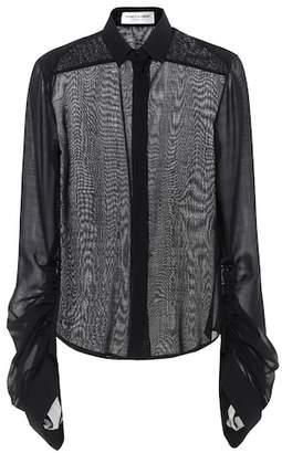 Saint Laurent Wool-blend blouse