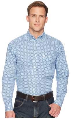 Wrangler George Strait Long Sleeve One-Pocket Print Men's Long Sleeve Button Up