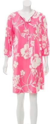 Tibi Floral-Printed Mini Dress