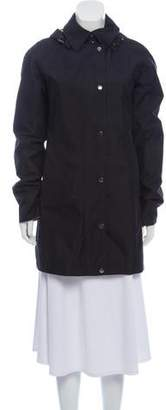 Burberry Hooded Wool Trench Coat