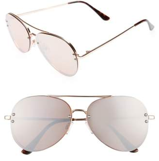 BP 60mm Oversize Mirrored Aviator Sunglasses