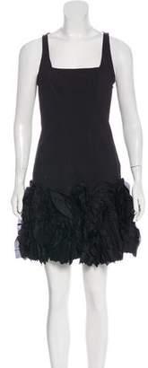 Robert Rodriguez Crepe Silk-Trimmed Dress
