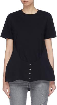 Alexander Wang Button silk panel T-shirt
