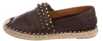Valentino Rockstud Leather Espadrilles
