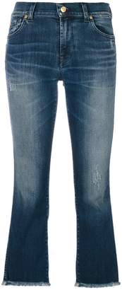 7 For All Mankind bleached cropped jeans