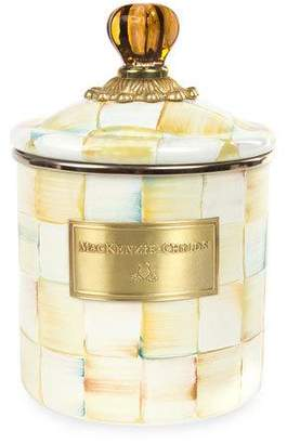 Mackenzie Childs MacKenzie-Childs Parchment Check Small Canister