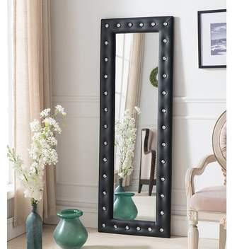 InRoom Designs Tufted Full Length Mirror