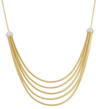"""Marco Bicego 18K Yellow Gold Cairo Five Strand Necklace with Diamonds, 16.5"""""""