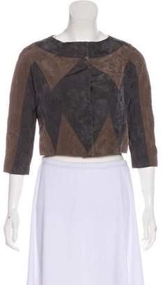 Proenza Schouler Silk Long Sleeve Jacket