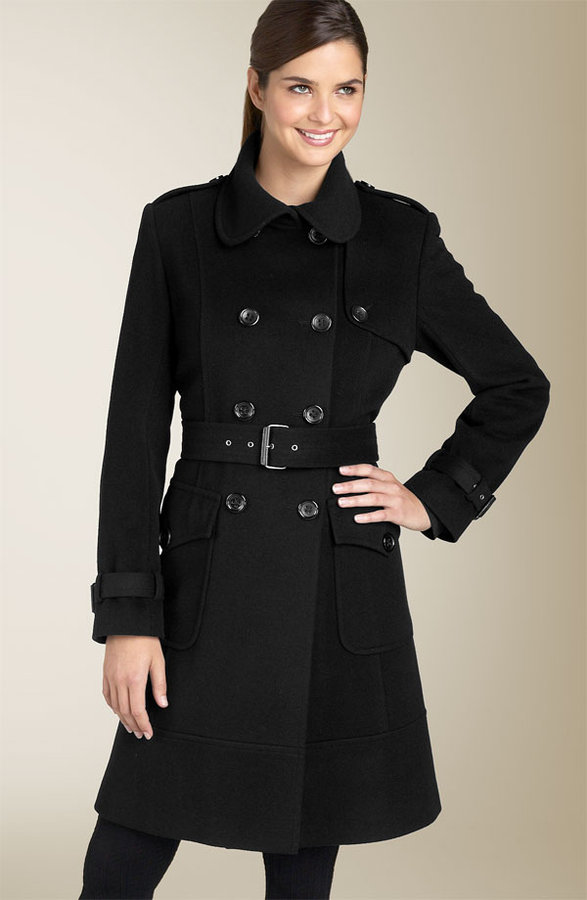 DKNY Wool Blend Trench Coat