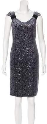 Armani Collezioni Embellished Knee-Length Dress