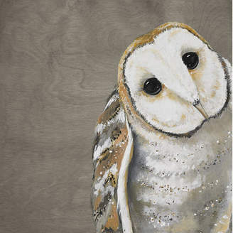GreenBox Art Sweet Barn Owl by Karin Grow Painting Print on Wrapped Canvas