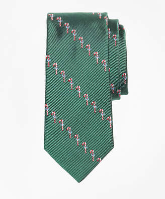 Brooks Brothers Boys Candy Cane Print Tie