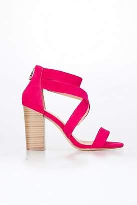 Wallis Bright Pink Block Heel Sandal