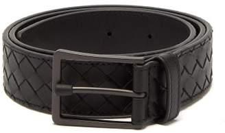 Bottega Veneta Intrecciato Leather Belt - Mens - Black