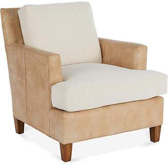 Bower Club Chair - Tan Leather - Miles Talbott