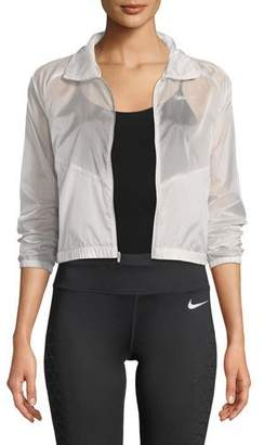 Nike Packable Zip-Front Sheer Ripstop Running Jacket
