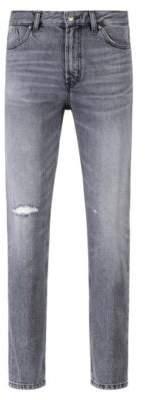 HUGO Boss Tapered-fit jeans in gray Italian denim 32/32 Dark Grey