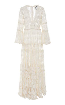 Alexis Alvin Beaded Lace Maxi Dress