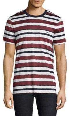 Salvatore Ferragamo Stripe Cotton Tee