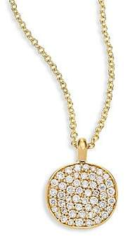 Ippolita Women's Stardust Diamond & 18K Yellow Gold Disc Pendant Necklace