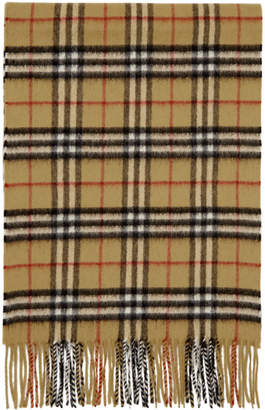 Burberry Yellow Classic Check Scarf