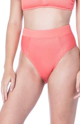 The Bikini Lab Rib-Thym High-Waist Bikini Bottoms