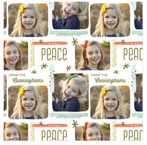 Merry Palette Personalized Wrapping Paper