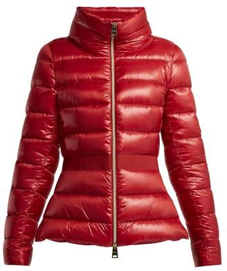 Herno Contrast Panel Quilted Down Jacket - Womens - Red