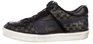 Louis Vuitton Damier Leather Woven Sneakers