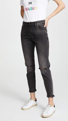 One Teaspoon High Waist Zip Freebird Jeans