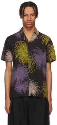 SASQUATCHfabrix. Black Fireworks Notched Collar Shirt