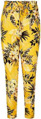 Dorothy Perkins Womens Petite Yellow Tropical Print Joggers