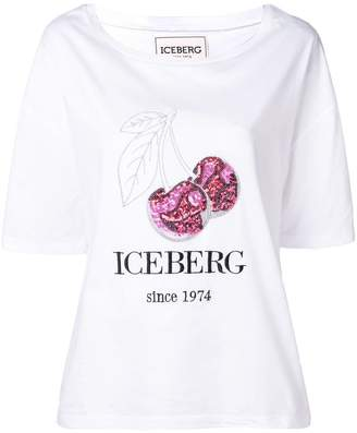 Iceberg sequin cherry T-shirt