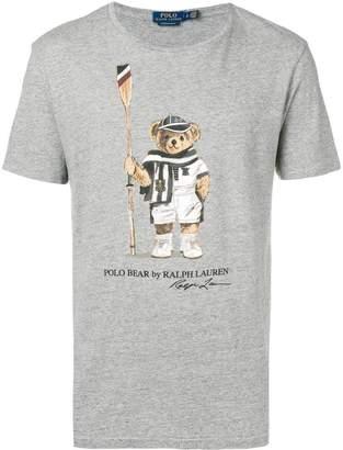 Polo Ralph Lauren logo bear print T-shirt
