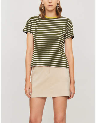 Ted Baker Striped stretch-jersey T-shirt