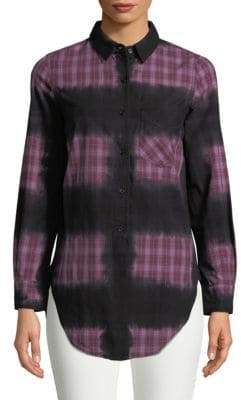 Monrow Printed Button-Down Shirt