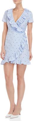 Romeo & Juliet Couture Romeo + Juliet Couture Star Print Ruffle Wrap Dress