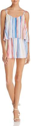 BB Dakota Gabriella Popover Striped Romper